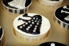 Doctor Who, cupcakes, food, dalek, edible, cake, egg, pumpkin