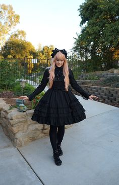shelbyscircus:  Celebrating some cooler weather today. Wearing all Angelic Pretty.