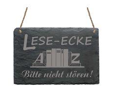 Schiefertafel « LESEECKE » Schild Exlibris Ex Libris Buch Bücher Lesen