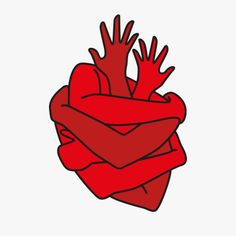 Shared by Nâstašja. Find images and videos about heart, art and red on We Heart It - the app to get lost in what you love. Plakat Design, Illustration Art, Illustrations, Red Aesthetic, Grafik Design, Heart Art, Art Inspo, Line Art, Cool Art