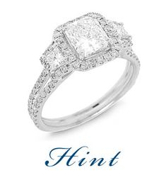 Hint for Christmas honey... A Halo Engagement Ring with Princess Cut Diamonds. By Hadar Diamonds.