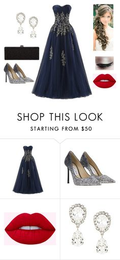 """""""Darkness #58"""" by carlaswaggy on Polyvore featuring moda, Smashbox, Jimmy Choo y Dolce&Gabbana"""
