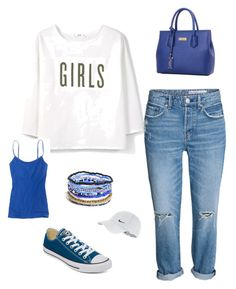 """Coffee run"" by christin-smith-wilhelm on Polyvore featuring MANGO, Aerie, Converse, Me to We and NIKE"