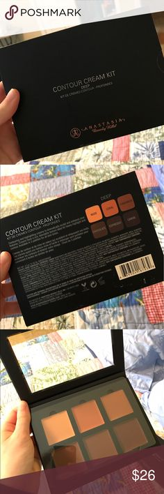 ABH Cream Contour Kit in Deep Authentic Anastasia Beverly Hills Contour Kit in Deep! Brand new, never used. One or two of these have a fingerprint, but nothing more! I have 5 of these :)! 🅿️🅿️ accepted, willing to use other apps :) Anastasia Beverly Hills Makeup Luminizer