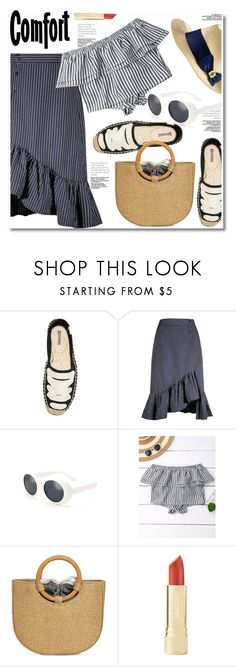 """""""Ruffled Tops"""" by paculi ❤ liked on Polyvore featuring Tory Burch, Summer, bikini and ruffledtops"""