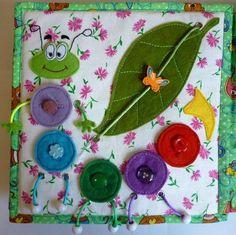 Мягкая развивающая книжка для детей - Зайка