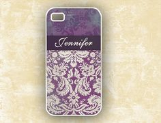 Love these!! purple damask personalised Iphone case 4 and $16.99