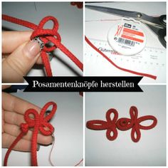 Posamentenknopf herstellen emboidery DIY l a step by step tutorial how to create a possament button embroidery
