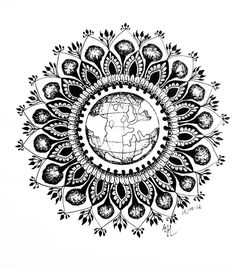 The earth- - - - - - - - - - - - #mandalatattoo #artwork #artworks #art #artist #mandala #mandalas #mandalaart #mandalay #mandalaybay…