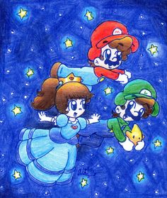 Super Mario Brothers, Smurfs, Fictional Characters, Art, Art Background, Super Mario Bros, Kunst, Performing Arts, Fantasy Characters