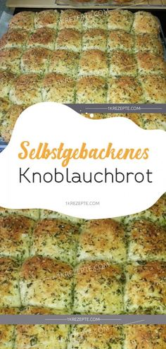 Homemade garlic bread- Selbstgebackenes Knoblauchbrot home-baked garlic bread # home-baked # garlic bread - Pizza Recipes, Brunch Recipes, Bread Recipes, Snack Recipes, Healthy Recipes, Simple Recipes, Baking Recipes, Snacks For Work, Healthy Work Snacks