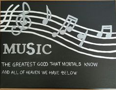 Joseph Addison quote on music. Hands down my favorite canvas I've done till date
