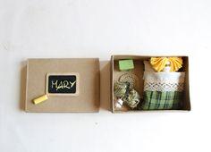 Doll in box. Miniature.. $32.00, via Etsy.
