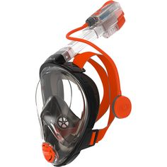 For snorkeling enthusiasts who don't like the traditional snorkels, you'll be able to breathe easy with the Ocean Reef Aria Full Face Snorkeling Mask. This ingenious mask covers your entire face and le Scuba Diving Equipment, Scuba Diving Gear, Fish Mask, Full Face Snorkel Mask, Beach Gear, Full Face Mask, Two Way Radio, Snorkelling, Diving