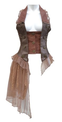 Steam up your Halloween with these steampunk costume ideas for women and men. You can either play it safe and pick a complete costume like our favorites below, Steampunk Cosplay, Viktorianischer Steampunk, Pirate Cosplay, Steampunk Clothing, Steampunk Fashion, Pirate Corset, Couture Steampunk, Steampunk Vetements, Steampunk Accessories