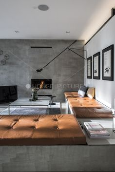 sleek, inviting w/masculine modern lines...