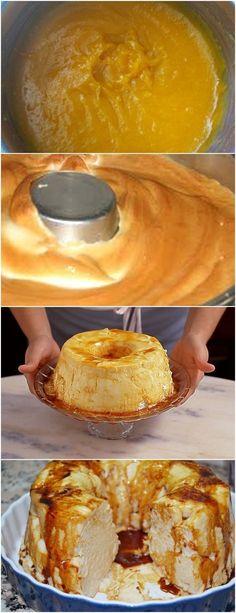 Este pudim, uma das sobremesas mais ilustres da cozinha portuguesa(Pudim Molotov) VEJA AQUI>>>Leve ao forno, cerca de 20 minutos, ou até o pudim ficar corado por cima. Desligue o forno e deixe o pudim arrefecer lá dentro. Para preparar o doce de ovos, #receita#bolo#torta#doce#sobremesa#aniversario#pudim#mousse#pave#Cheesecake#chocolate#confeitaria Sweet Desserts, Easy Desserts, Sweet Recipes, My Favorite Food, Favorite Recipes, Portuguese Recipes, Food Places, Pudding Recipes, I Love Food