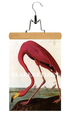 Audubon Flamingo Vintage Bird Art Print on Card by Blakenetizen, $5.00