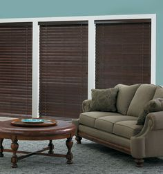 Bali®️️ Northern Heights 2 1/2 Shutter Style Wood Blinds shown in Saddle Brown