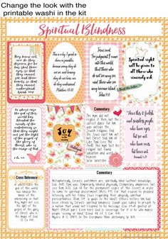 NEW First in a Series. Pre-Decorated Quick Pages Printables, Fit Happy Planner,  Christian Stickers. Printables for a Happy Planner pages or Bible Journal.  Includes four mix and match Redecorated Pages with extra journal cards.
