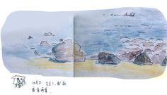 The sea of Jeju Island,olle