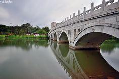 Photo bridge to gazebo. by Vungh Khen Mung on Bridges, Singapore, Gazebo, Garden, Kiosk, Garten, Pavilion, Lawn And Garden, Gardens