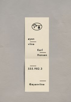 Identity design for Øyenvitne, a Norwegian publishing company