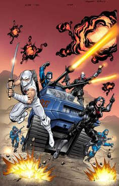 GI Joe 1 alternate cover by on deviantART Comic Movies, Comic Books Art, Comic Art, Thundercats, Gi Joe 1, Gi Joe Characters, Arte Ninja, Cobra Commander, Storm Shadow