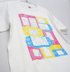 "Custom Screen Printed Short Sleeved Heavyweight White T-Shirt ""Portable FANTASY"" ,Available in 150 S M L XL and XXL"