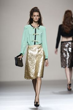 Miguel Palacio. Love the gold details. #fashion #style