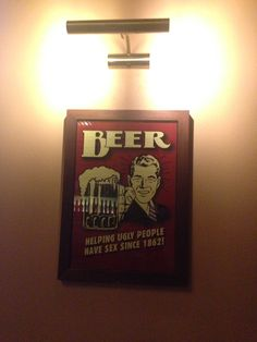 Beer helping ugly people have sex