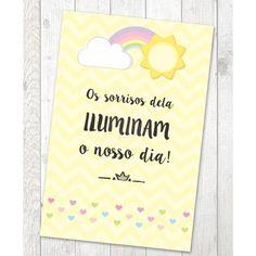 Impresso Porta Retrato 15 x 21 - 2 Festa Arco Iris You Are My Sunshine, Baby Room, Aurora, Rainbow, Baby Shower, Make It Yourself, Birthday, Frame, Party