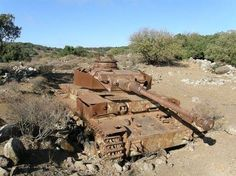 Syrian panzer IV. In the Golan heights. (May have misspelled that) Russia provided Syria with captured German weapons to fight Israel.