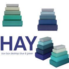 Set van 5 Box Box desktop dozen van HAY. www.emma-b.nl/box-box-desktop-blue-5-boxes www.emma-b.nl/box-box-desktop-blue-5-boxes-12083