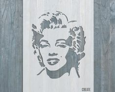 Items similar to Khaleesi STENCIL Daenerys Targaryen Template Home Wall Art Game of Thrones Fictional Character on Etsy Marilyn Monroe Stencil, Marilyn Monroe Artwork, Home Wall Decor, Home Wall Art, Graffiti, Skull Stencil, Large Stencils, Types Of Painting, Famous Women