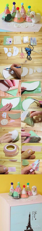 DIY Mini Fabric Christmas Tree DIY Mini Fabric Christmas Tree by diyforever