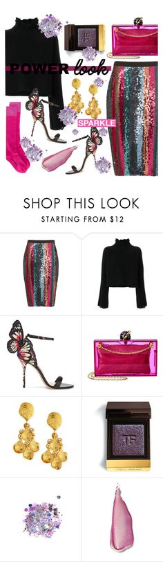 """""""Power Look  #2"""" by alexa-anita2010 ❤ liked on Polyvore featuring Tanya Taylor, Golden Goose, Sophia Webster, Charlotte Olympia, Jose & Maria Barrera, Tom Ford, The Gypsy Shrine, Stila, Off-White and girlpower"""