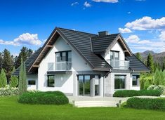 Dom przy Cyprysowej 15 K4 - zdjęcie 2 Modern House Design, Home Fashion, House Plans, Mansions, Architecture, House Styles, Home Decor, Concept, Ideas