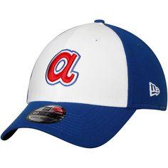 Men s Atlanta Braves New Era White Cooperstown Collection Team Classic 39THIRTY  Flex Hat 2437e2167608
