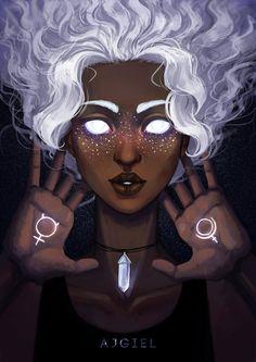 ajgiel: star freckles this is elle Black Girl Art, Black Women Art, Art Girl, Art Women, Character Inspiration, Character Art, Character Ideas, Afro Art, Magic Art