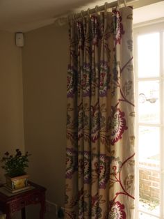 Drawing room curtains in Manuel Canovas fabric - hand made by Victoria Clark Interiors.