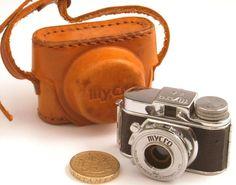 Vintage Mycro IIIA Sub Miniature 17mm Film Camera & Leather Case SPARES/REPAIR