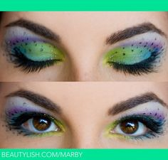 peacock eye makeup without the dots- I' curious