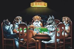 My Grandfather had this painting in his den, along with a green poker table identical to the one in the painting.  Love this!