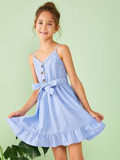 Girl's Dresses, Shop Dresses for Older Girls Online Girls Dresses Online, Dresses Kids Girl, Cute Girl Outfits, Kids Outfits, Belted Dress, The Dress, Baby Dress, Girls Fashion Clothes, Kids Fashion