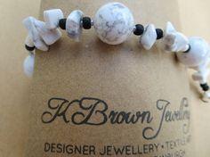Check out this item in my Etsy shop https://www.etsy.com/listing/130750904/howlite-gemstone-bracelet-white-howlite
