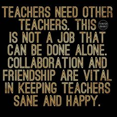 Teacher collaboration is key