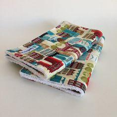 Oh La La Paris 2 Pack Burp Cloths | Maxwell Designs #burpcloths #burpcloth #baby #child #accessories