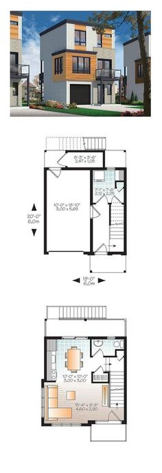 Modern House Plan 76463 | Total Living Area: 1015 sq. ft., 3 bedrooms and 1.5 bathrooms. #modernhome