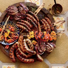 Sausage Mixed Grill   Prick fresh sausages all over before grilling to release the excess fat.